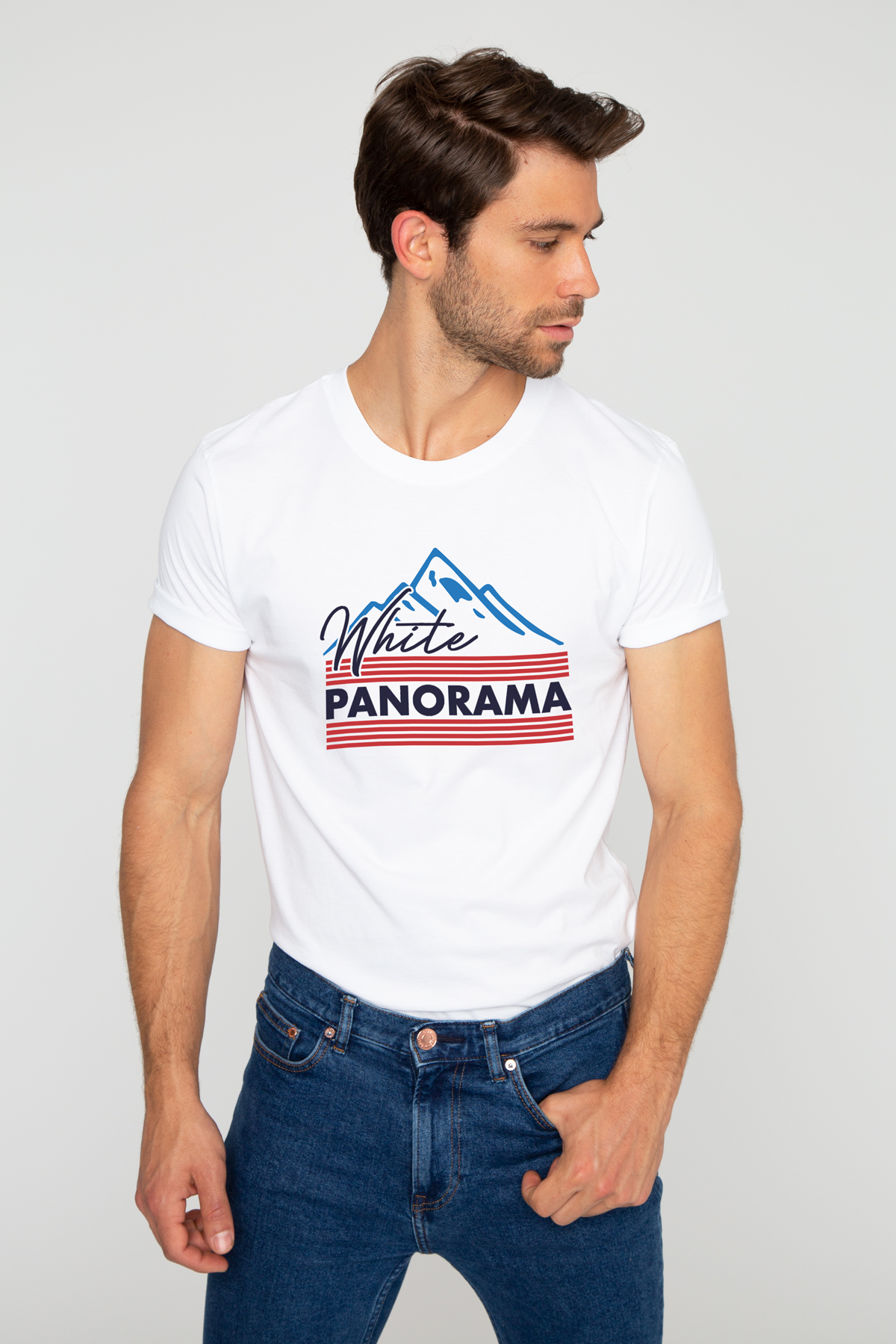 T-shirt WHITE PANORAMA French Disorder