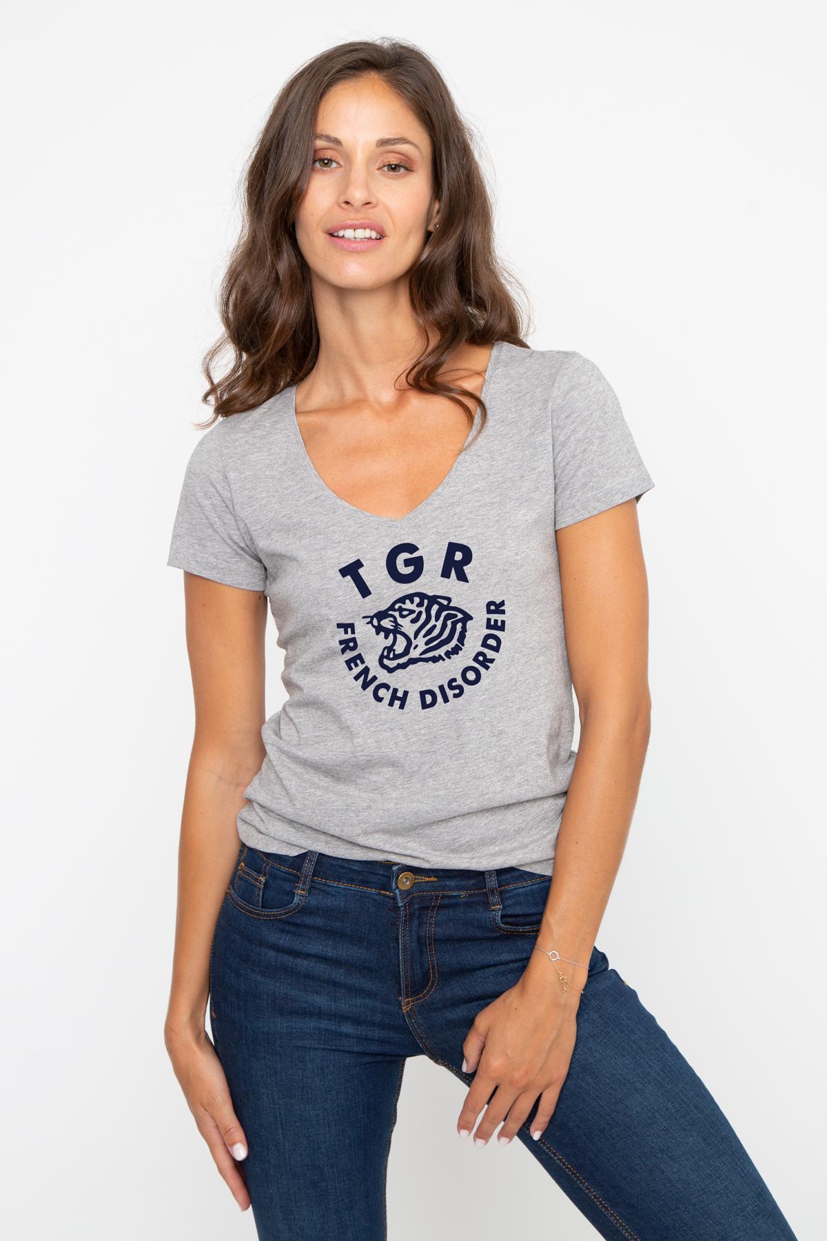 T-shirt col V TIGER French Disorder