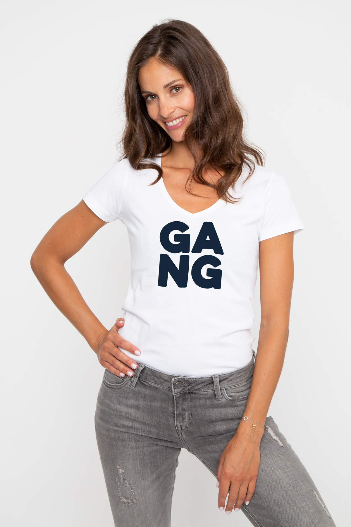 T-shirt col V GANG
