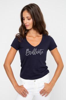 T-shirt col V BRILLANTE