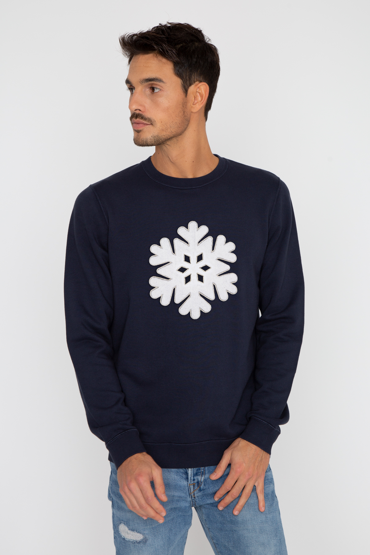 Photo de Soldes homme Sweat SNOWFLAKE chez French Disorder