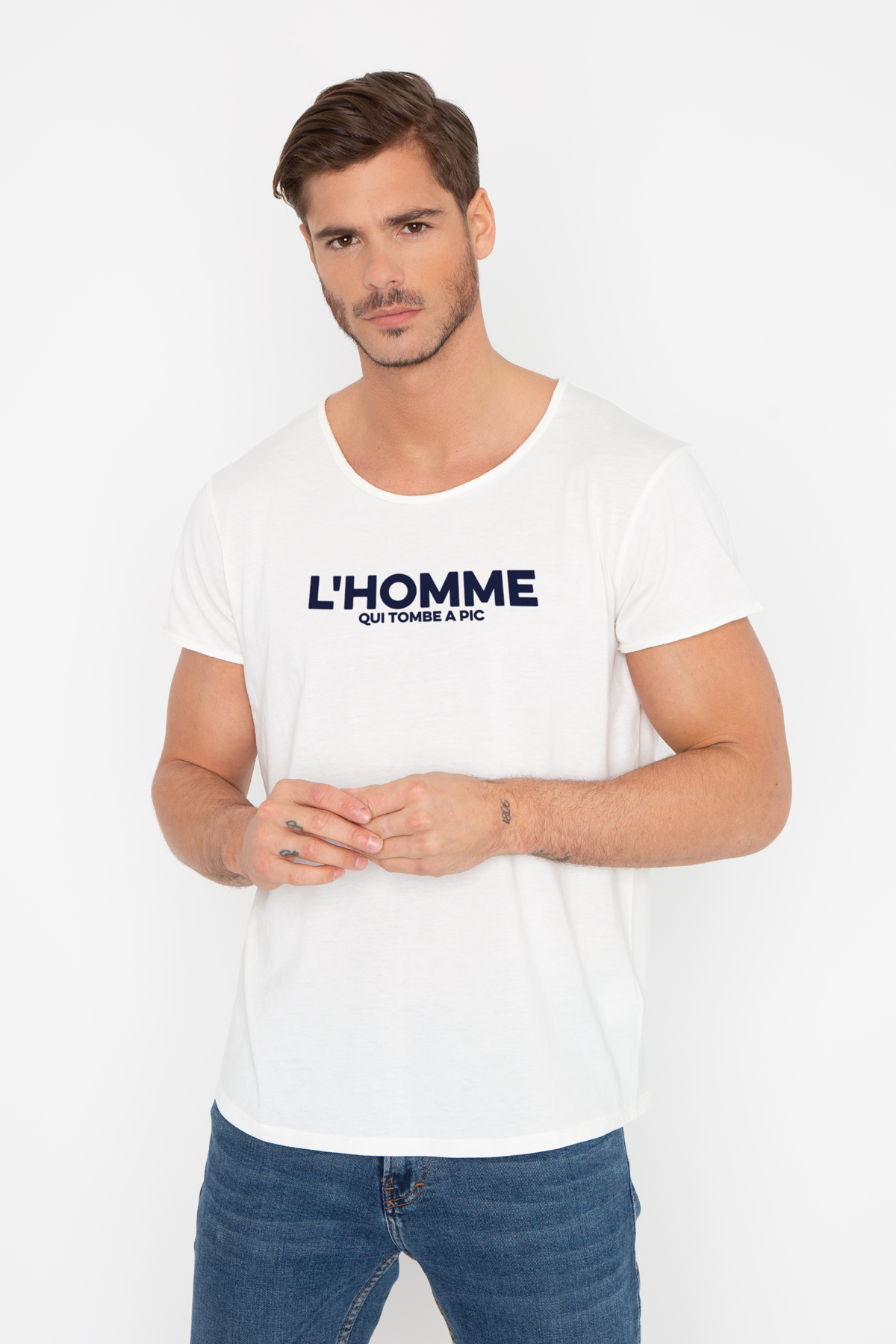 Photo de Soldes homme Tshirt Aron L'HOMME QUI TOMBE A PIC chez French Disorder