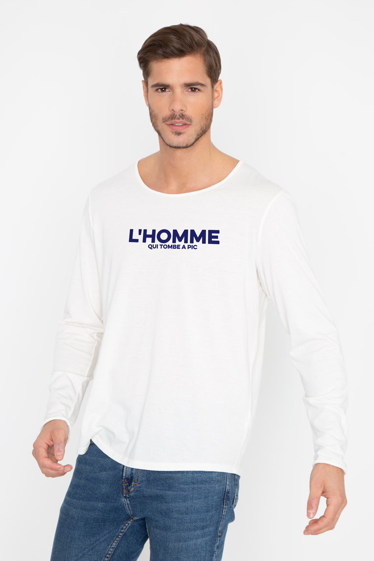 Photo de Soldes homme Tshirt Percy L'HOMME QUI TOMBE A PIC chez French Disorder