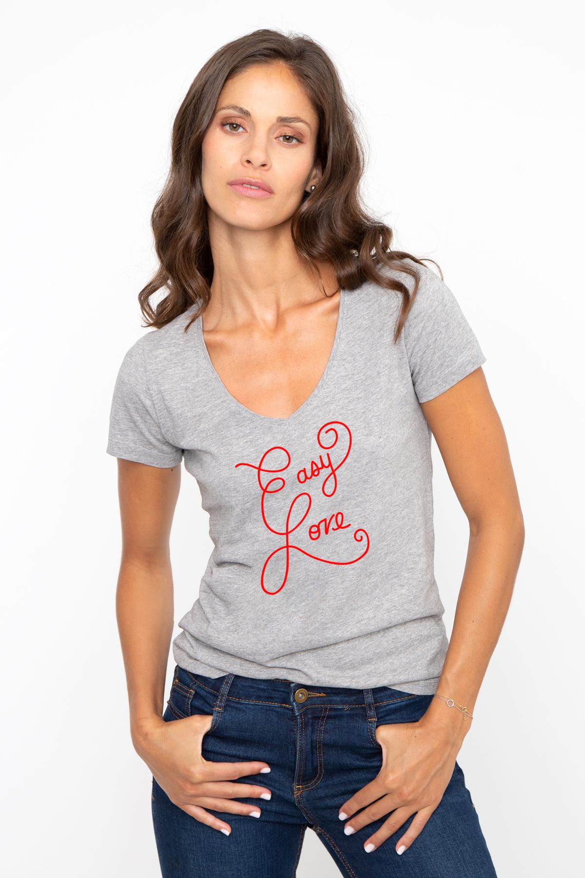Tshirt col V EASY LOVE