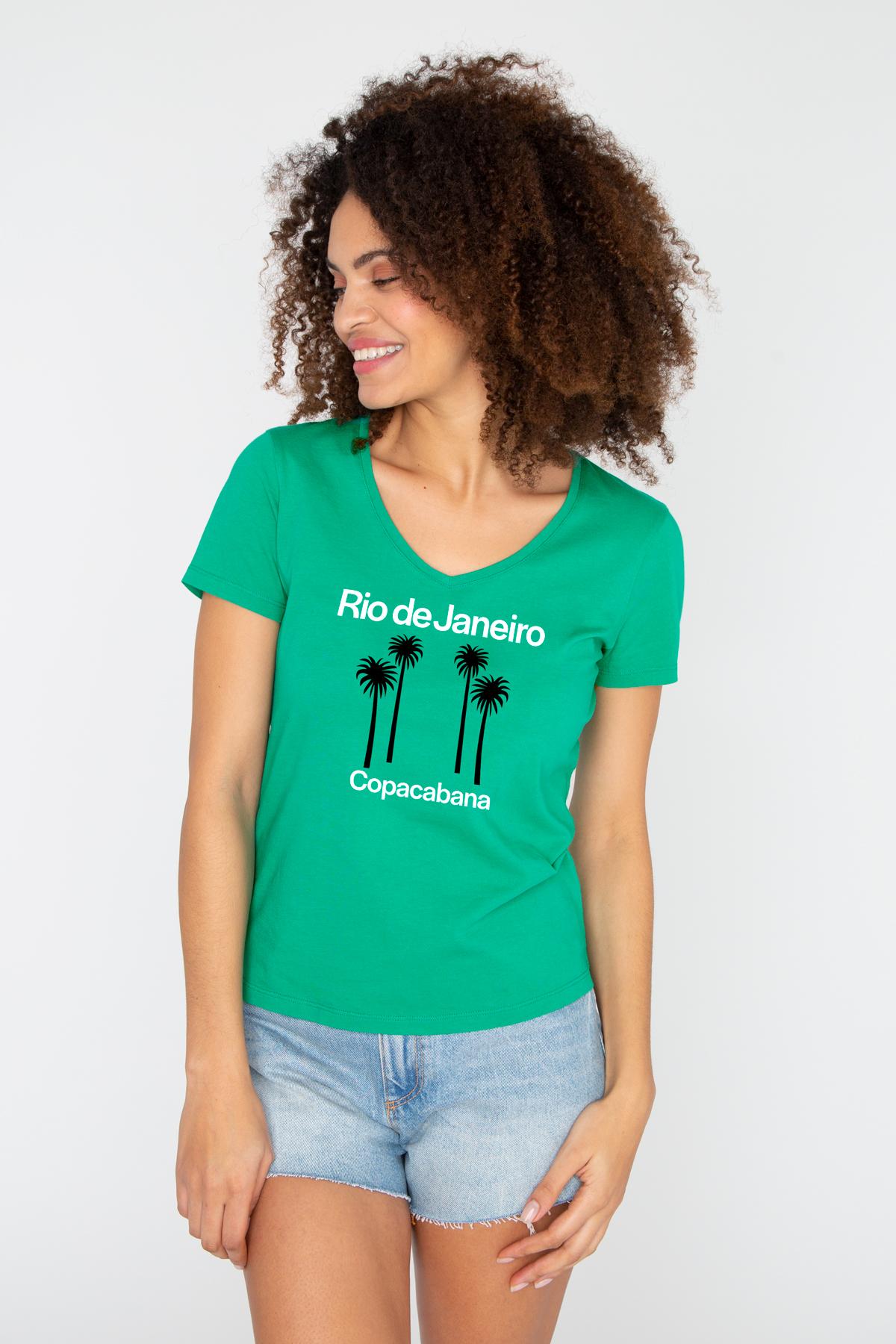 Tshirt col V RIO