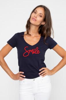 Tshirt col V SMILE