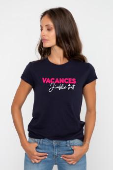 Tshirt VACANCES J'OUBLIE TOUT
