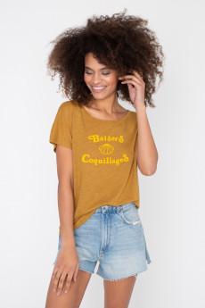 Tshirt flammé BAISERS & COQUILLAGES