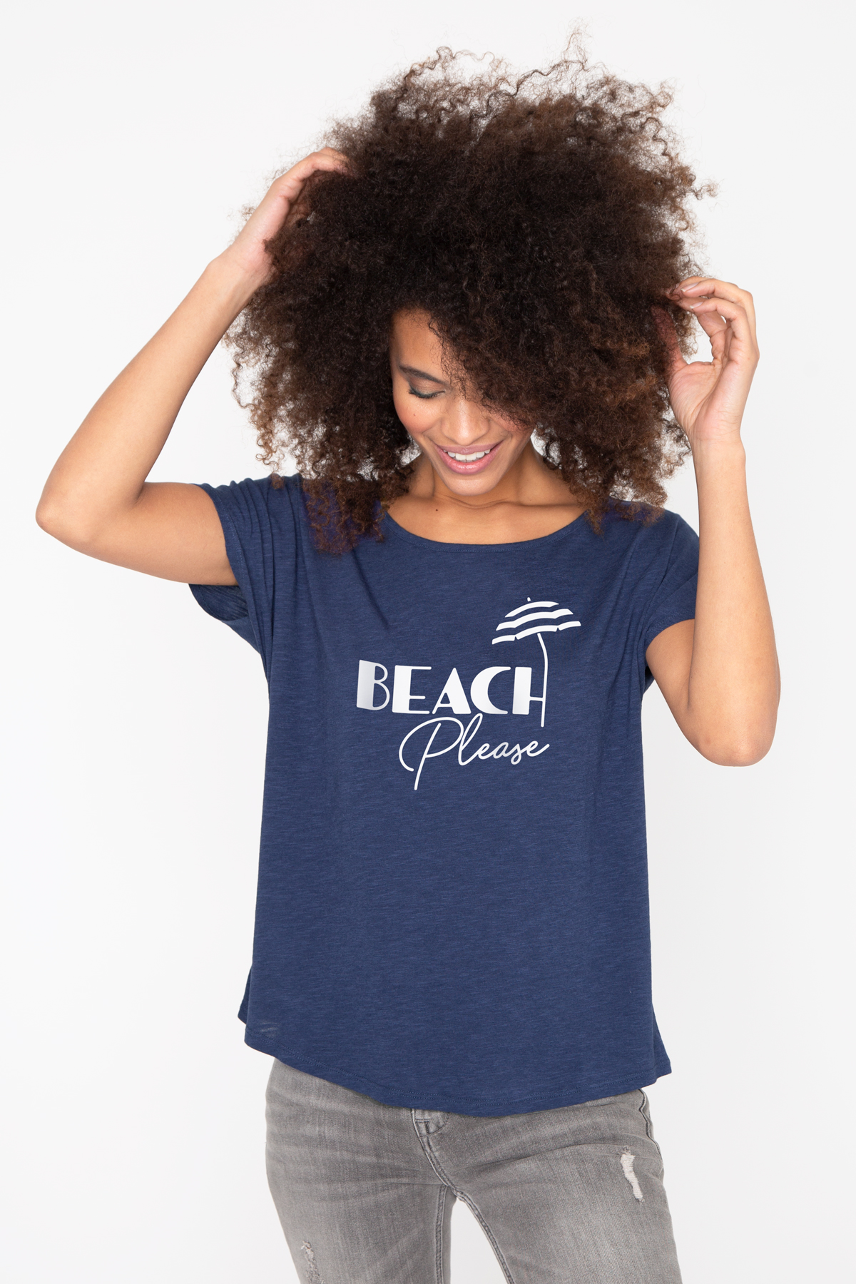 Photo de T-SHIRTS FLAMMÉS Tshirt flammé BEACH PLEASE chez French Disorder