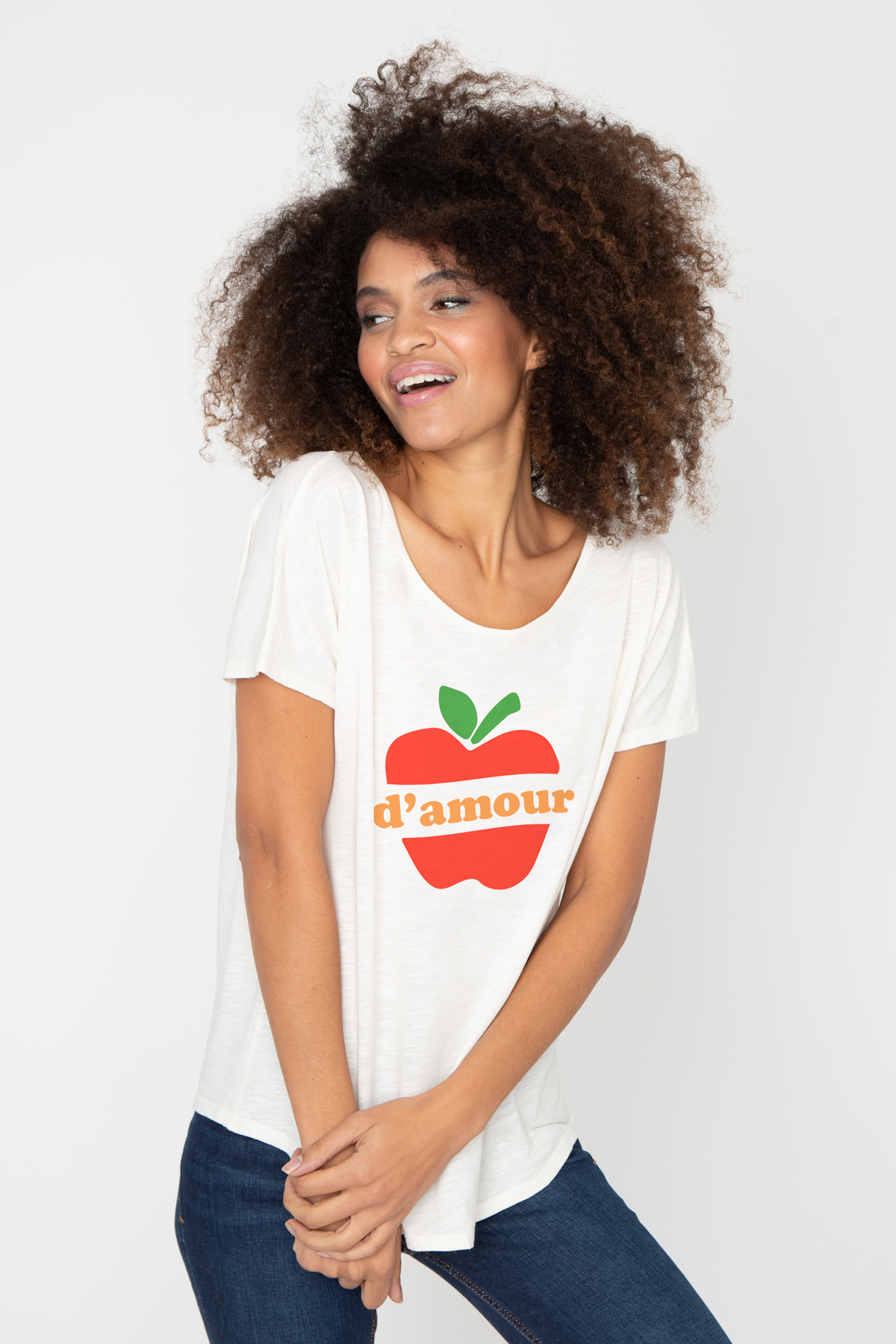 Tshirt flammé POMME D'AMOUR