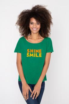 Photo de T-SHIRTS FLAMMÉS Tshirt flammé SHINE SMILE chez French Disorder