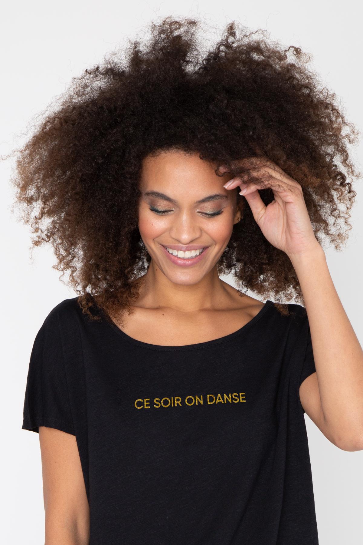 Photo de T-SHIRTS FLAMMÉS Tshirt flammé CE SOIR ON DANSE chez French Disorder
