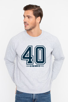 Photo de SWEATS Sweat 40 IS THE NEW 20 chez French Disorder