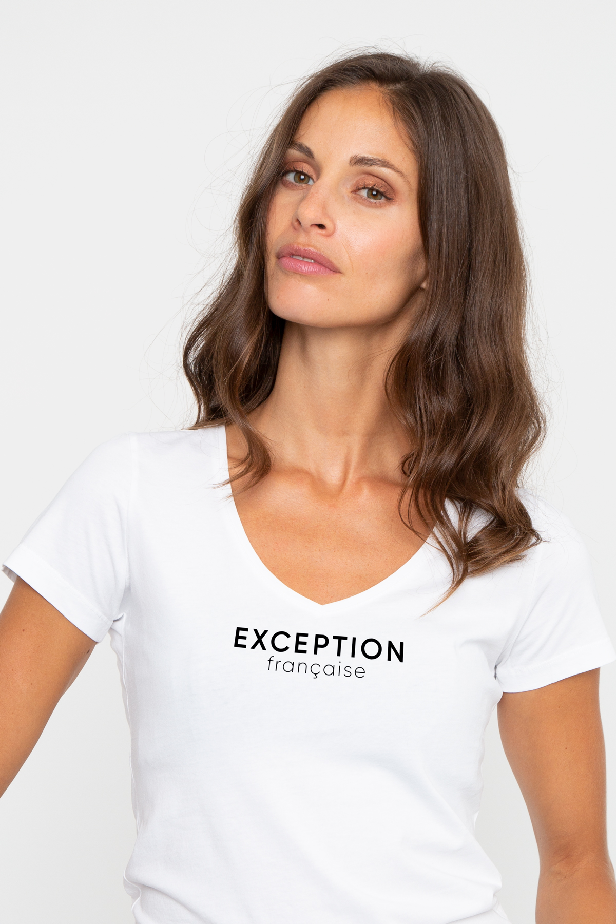 Photo de SAGE Tshirt col V EXCEPTION FRANCAISE chez French Disorder