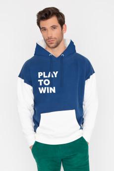 Photo de SWEATS À CAPUCHE Hoodie bicolore PLAY TO WIN chez French Disorder
