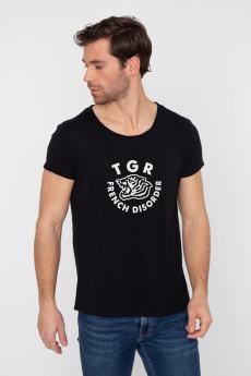 Photo de T-SHIRTS FLAMMÉS Tshirt coton flammé TIGER chez French Disorder