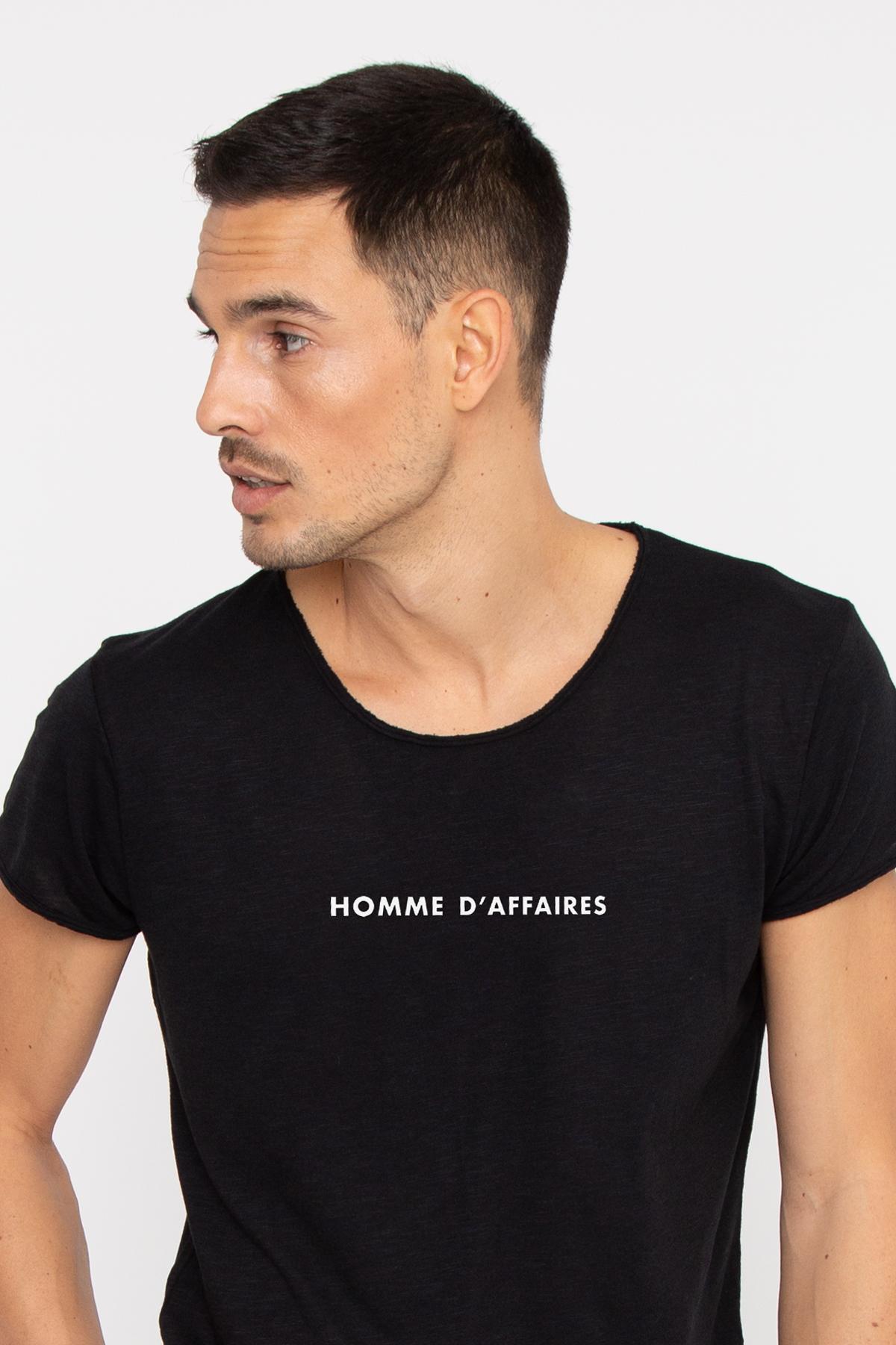 Photo de T-SHIRTS FLAMMÉS Tshirt coton flammé HOMME D'AFFAIRES chez French Disorder
