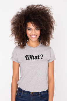 Photo de T-SHIRTS COL ROND Tshirt WHAT ? chez French Disorder