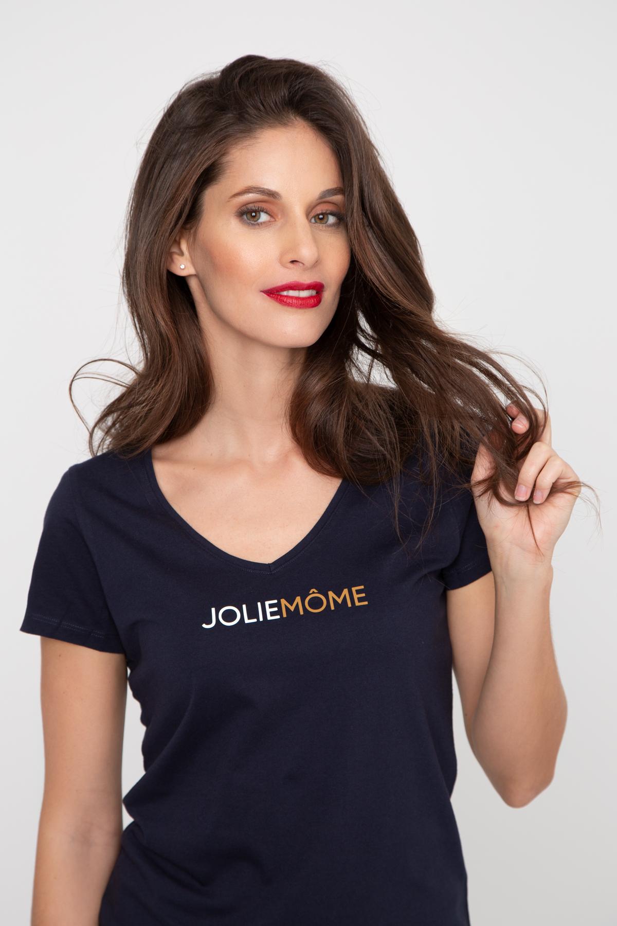 Photo de T-SHIRTS COL V Tshirt col V JOLIEMÔME chez French Disorder