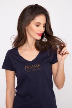 Photo de T-SHIRTS COL V Tshirt col V FEMME DU MONDE chez French Disorder
