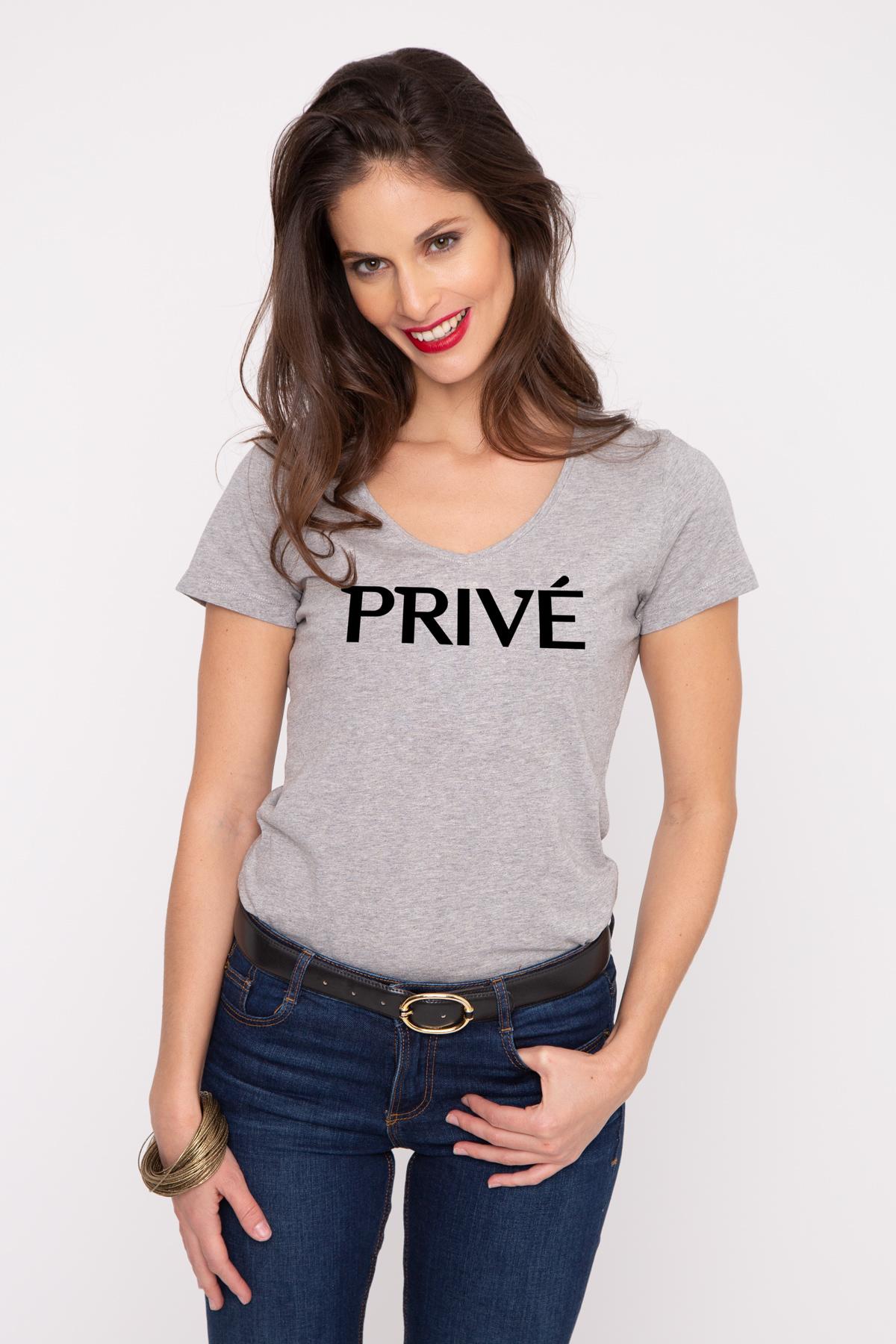 Photo de T-SHIRTS COL V Tshirt col V PRIVE chez French Disorder