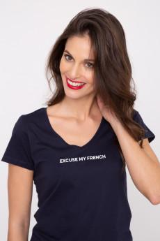 Tshirt col V EXCUSE MY FRENCH